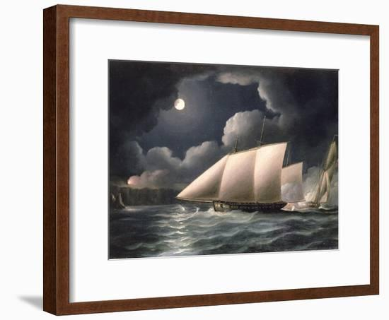Smugglers and Revenue Cutter-Thomas Buttersworth-Framed Premium Giclee Print