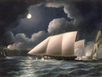 Smugglers and Revenue Cutter-Thomas Buttersworth-Giclee Print