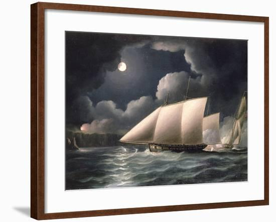 Smugglers and Revenue Cutter-Thomas Buttersworth-Framed Giclee Print