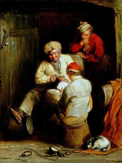 Smugglers Playing Cards-Henry Perlee Parker-Giclee Print