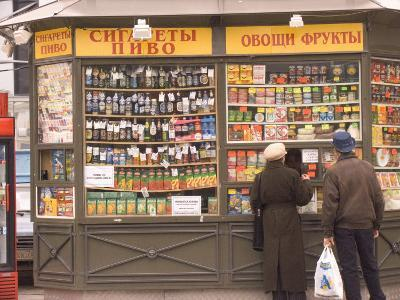 Snacks and Drinks are Sold from a Kiosk on Nevsky Prospect-Richard Nowitz-Photographic Print
