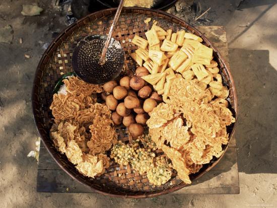 Snacks, Covered in Batter, Mingun, Myanmar (Burma)-Upperhall-Photographic Print