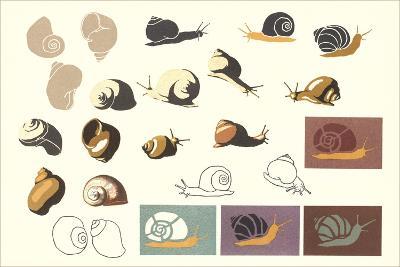 Snails and More Snails--Art Print