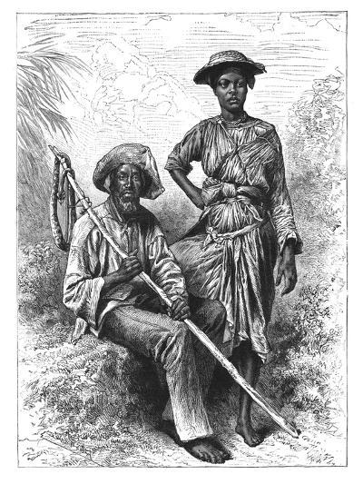Snake Catcher and Charcoal Girl, Martinique, C1890--Giclee Print