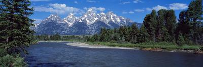 Snake River and Grand Teton WY USA--Photographic Print
