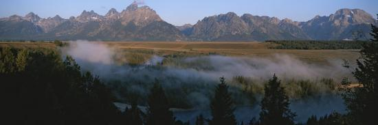 Snake River and the Tetons at Sunrise-Michael S^ Lewis-Photographic Print