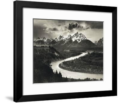 Snake River-Ansel Adams-Framed Art Print