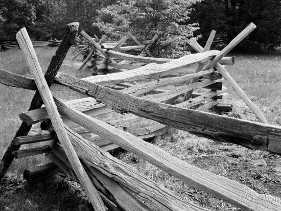 Snake Type Zigzag Split Rail Fence On Farm Photographic Print By H Armstrong Roberts Art