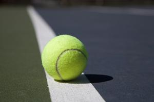 Tennis Ball on a Line in a Court by Snap Decision