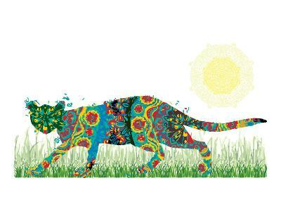 Sneaky Cat-Teofilo Olivieri-Art Print