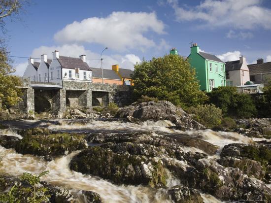 Sneem River Below Road Bridge in Village on Ring of Kerry Tourist Route, Iveragh Peninsula, Munster-Pearl Bucknall-Photographic Print