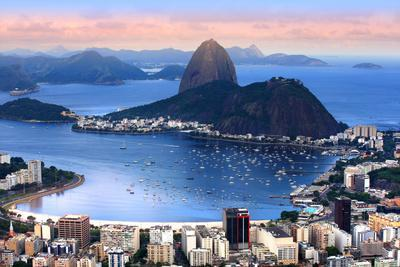 Rio De Janeiro, Brazil in the Evening Sun Light