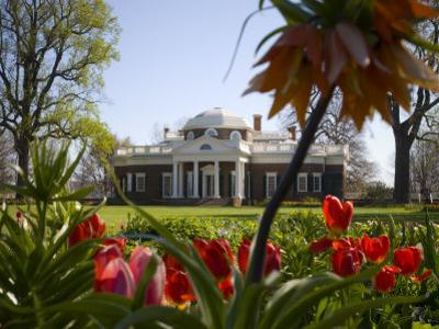 Thomas Jefferson's Monticello, UNESCO World Heritage Site, Virginia, USA by Snell Michael