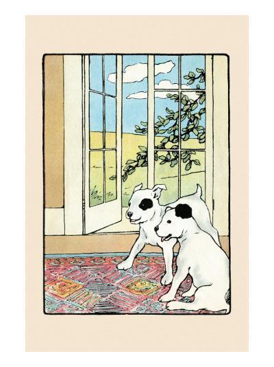 Snip And Snap on the Rug-Julia Dyar Hardy-Art Print