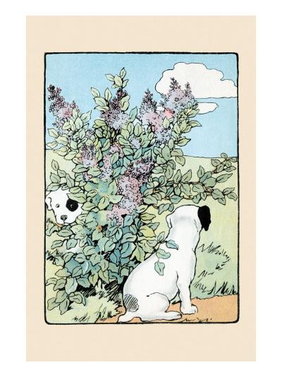 Snip And Snap Play In the Lilac Bushes-Julia Dyar Hardy-Art Print
