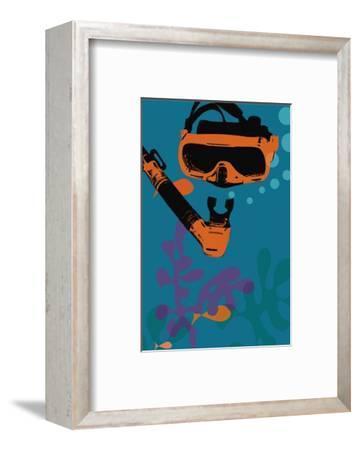 Snorkeling illustration
