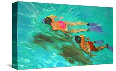 Snorkellers-William Ireland-Stretched Canvas Print