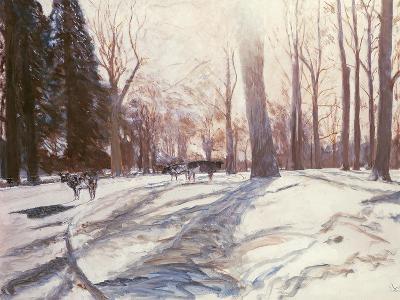 Snow at Broadlands-Paul Stewart-Giclee Print