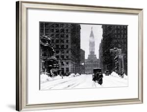 Snow at City Hall, Philadelphia, Pennsylvania