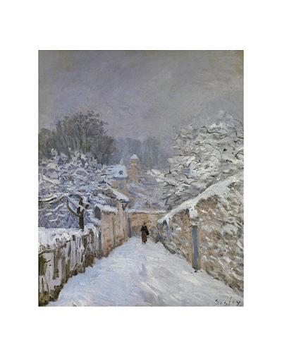 Snow at Louveciennes, France, c.1878-Alfred Sisley-Art Print