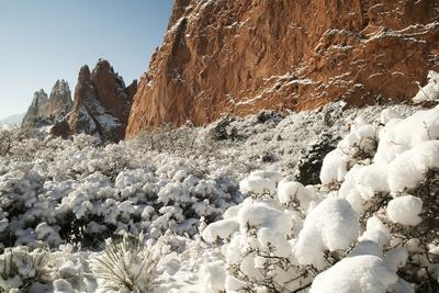 Snow at the Garden of the Gods Photographic Print by bcoulter