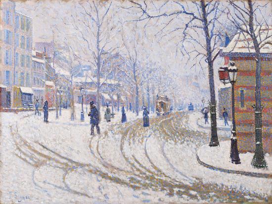 Snow, Boulevard de Clichy, Paris 1886-Paul Signac-Giclee Print