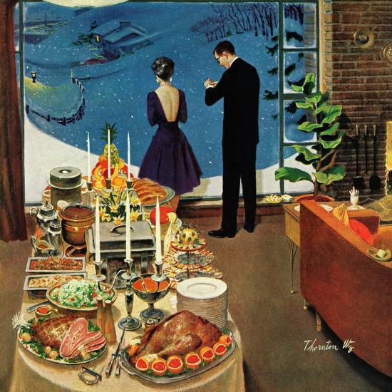 """Snow Buffet Party,"" February 20, 1960-Thornton Utz-Giclee Print"