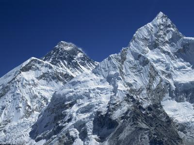 Snow-Capped Peak of Mount Everest, Seen from Kala Pattar, Himalaya Mountains, Nepal-Alison Wright-Photographic Print