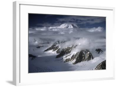 Snow-Capped Peaks of Mount Mckinley--Framed Photographic Print