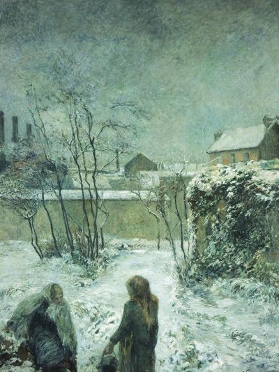 Snow, Carcel Road, 1883-Paul Gauguin-Giclee Print