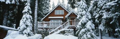 Snow Covered Chalet, Lake Tahoe, California, USA--Photographic Print