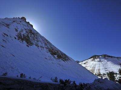 Snow Covered Checkerboard Mesa in Zion National Park-Raul Touzon-Photographic Print