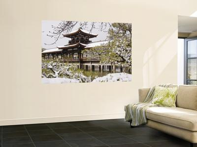 Snow Covered Chinese Style Bridge Over Pond In Garden Of Heian Shrine Wall  Mural By Frank Carter | Art.com
