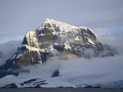 Snow Covered Coastal Mountain, Wiencke Island, Antarctic Peninsula, Antarctica, Polar Regions-James Hager-Photographic Print