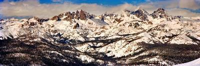 Snow Covered Landscape, Mammoth Lakes, Mono County, California, USA--Photographic Print