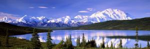 Snow Covered Mountains, Mountain Range, Wonder Lake, Denali National Park, Alaska, USA