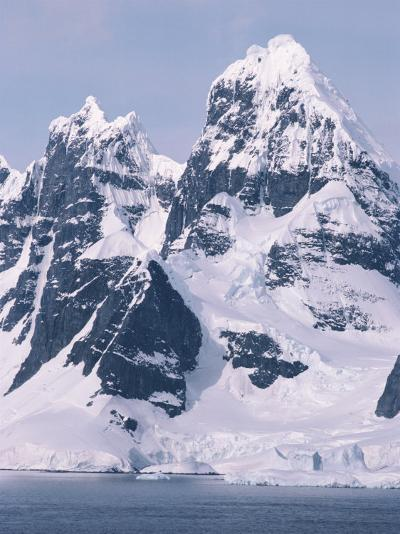 Snow-Covered Mountains on Wienke Island, off the Antarctic Peninsula-Gordon Wiltsie-Photographic Print