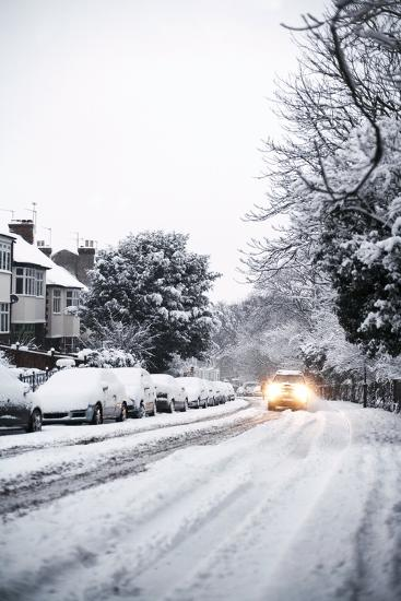 Snow-covered Road-Ian Boddy-Photographic Print