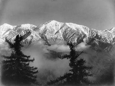 Snow Covered San Antonio Peak as Viewed from Mount Wilson--Photographic Print