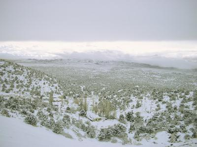 Snow Covers the Desert and Mountains near Pioche, Nevada-Sam Abell-Photographic Print
