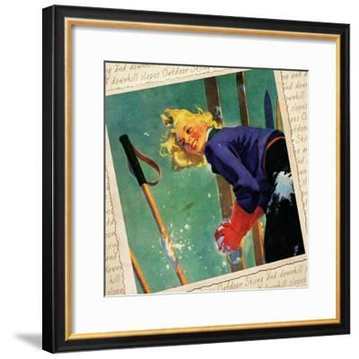 Snow fight Montage--Framed Giclee Print