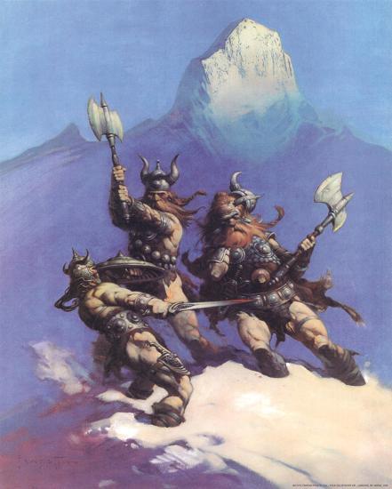 Snow Giants (cover art for Conan of Cimmeria)-Frank Frazetta-Art Print
