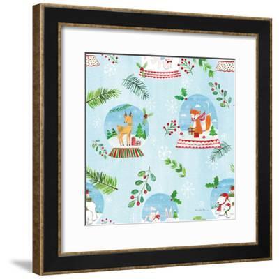 Snow Globe Animals Pattern VI-Farida Zaman-Framed Art Print
