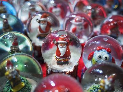 Snow Globes for Sale in the Verona Christmas Market, Italy.-Jon Hicks-Photographic Print