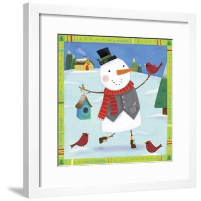 Snow Happy 1-Holli Conger-Framed Giclee Print