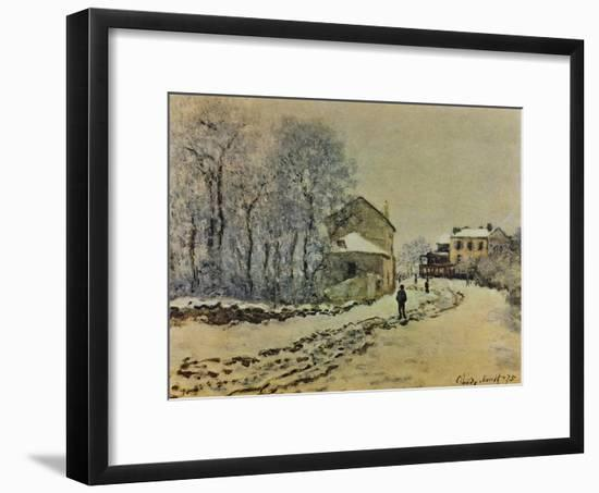 Snow in Argenteuil, 1875-Claude Monet-Framed Giclee Print