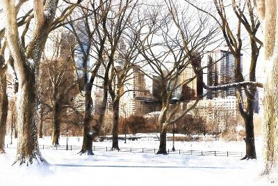 Snow in Central Park III-Philippe Hugonnard-Giclee Print