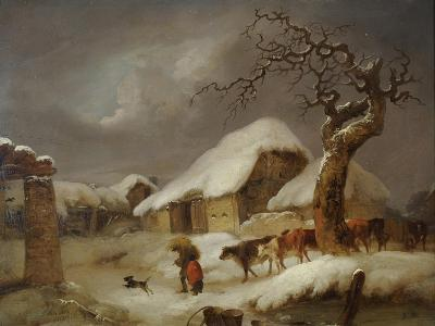 Snow in the Farmyard, 1812-Joseph Rhodes-Giclee Print