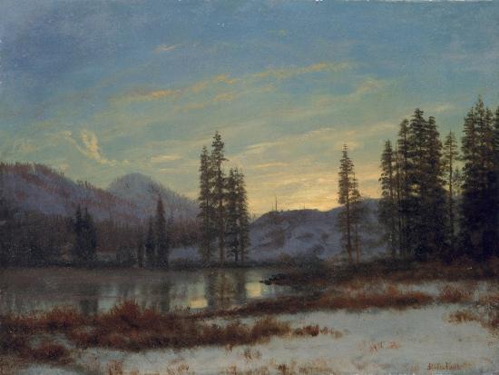 Snow in the Rockies-Albert Bierstadt-Giclee Print