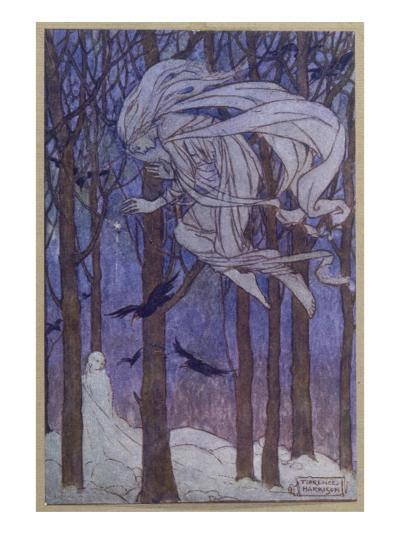 Snow Is Brought by the Fairy of the North Wind--Giclee Print